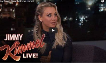 Kaley Cuoco On Jimmy Kimmel Live