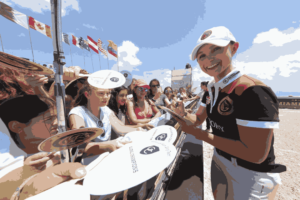 Georgina Bloomberg signs autographs to